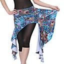חצאית ריקודי בטן הדפסת טווס משי של ביצועי נשים (יותר צבעים)