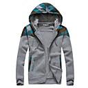 Men's Long Sleeve Hoodie & Sweatshirt , Cotton Blend Plaids & Checks