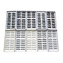 100PCS 10 Mixed Styles Natural Handmade Black Lengthening Thicker Fiber False Eyelashes