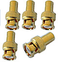 BNC Male to RCA Female Adaptor - Gold Plated x 5pcs
