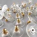metallisches Gold überzogener Ohrring Ohrstecker (10 Stück / OPP)