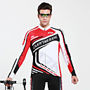 MYSENLAN Men's Polyester Summer and Autumn Long Sleeve Cycling Suit
