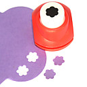 DIY Cutting Tool Mini Metal Plum Blossom Pattern Punch(Random Color)