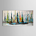 IARTS®Oil Painting Landscape Sailing Boat with Stretched Frame Ready to Hang Hand-Painted Canvas