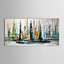 iarts®oil malowanie krajobrazu łodzi żaglowych z rozciągniętej ramki gotowy do powieszenia ręcznie malowane płótno