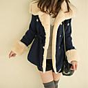 Women's Coats & Jackets , Nylon/Tweed Casual/Work Long Sleeve