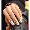 Lureme®Metallic Fingernail Alloy Ring
