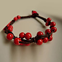 Fashion Little Red Fruit Ceramic Stand Bracelet(1 Pc)