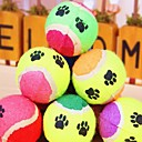 Lureme Colorful Print Pattern Ball for Pets Dogs Cats (Random Color)