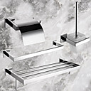 Contemporary Stainless Steel Bathroom Accessory Sets,4-Piece Bath Collection Set