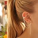 European Style Personality Leaves Metal Tassel Earrings(1PC)