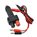 Jtron DC 12V 10A Car Cigarette Lighter Plug w/ Power Wiring Cable - Black
