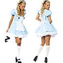 Classic Alice in Wonderland Blue Polyester Women's Halloween Costume