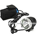 Front Bike Light LT-0660 3-Mode CREE XM-L U2 LED Bicycle Light Headlamp Torch (2200LM.4X18650.Black)