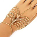 Women's European Multilayer Tassel Hand Chain Ring Bracelet
