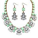 perles grappes de fleurs collier de déclaration de dossard boucles d'oreilles des femmes réglées