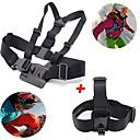 GoPro accessoires 2 in 1 kit borstband + hoofdband voor GoPro hero 1 2 3 3+ 4 sj4000 sport camera's