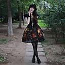 Retro Oil Painting Flower Girl Short Sleeve Knee-length Gothic Lolia Dress OP