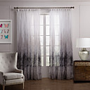 (Two Panels) Country Graceful Trees Sheer Curtain