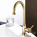 European Style Brass 1 Hole 1 Hand Polishing Kitchen Faucet