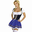 Sexy Netherlandish Oktoberfest Girl Blue Terylene Hallewoon Costume