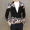 Men's Long Sleeve Regular Blazer , Cotton Print/Pure