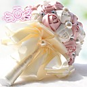 Vintage Silke Roses Flower Girl Wedding Bridal Corsage Bouquet (More Colors)