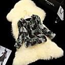 skind frakker kvinder armygrøn camouflage pels kanin hår kort pels jakke
