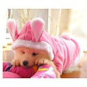 Pink Pet Dog Fleece Coat Warm Hoodie Pet Apparel Cute Rabbit Ears for Dogs (assorted sizes)