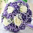 rund lilla brude blomst romantisk bryllup brudens bukett rose blomst bukett bruden partiet dekorasjon