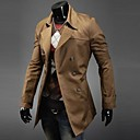 Men's Long Sleeve Long Trench coat , Cotton Pure
