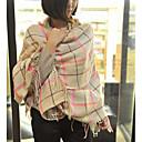 Women's Fashion Contrast Color Grid Pattern Imitation Cashmere Shawl(More Colors)