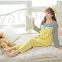 Women's Single Knitting Cotton Long Sleeve Cap Breastfeeding Women Suits
