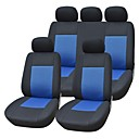 9 Pieces/Set Car Seat Covers Universal Fit Material Blue Jacquard Material with 3mm Composite Sponge Auto Accessories