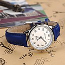 kvinners moteriktig stil legering analog kvarts pu watch (assorterte farger)
