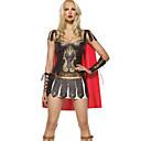 Roman & Greek Warrior Brown PU Leather Women's Halloween Costume
