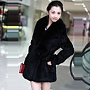 Fur Coat Faux Fur Fashion Long-Sleeved Turndown Coat for Women
