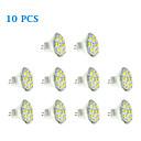 10 pcs GU4(MR11) 6W 12 SMD 5730 570 LM Warm White / Cool White MR11 LED Spotlight DC 12 V