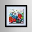 pittura a olio moderna mano fiori astratti frameles dipinti lino naturale struttura in legno massello dipinti