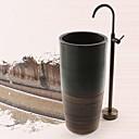 Bathtub Faucet - Antique - Floor Standing - Brass (Antique Brass)