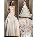 Lanting невесты-Line / Princess миниатюрная / плюс размеры свадебное платье-развертки / щетка поезд королевы Анны кружева / сатин