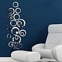 spegel väggdekorationer väggdekaler, diy cirkel mosaik spegel akryl väggdekorationer (60 * 40)