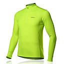 Tops (Amarillo/Verde/Azul/Naranja) - de Carreras/Deportes recreativos/Ciclismo - Transpirable/Capilaridad - de Mangas largas Hombres
