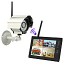 NEW Wireless 4CH Quad DVR 1 Cameras with 7