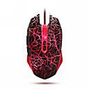atreve-u mini-edição warangler g60 6 LED Backlight livre interruptor 6 nível dpi usb jogo do rato com fio (vermelho e preto)