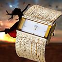 moda de luxo mulheres ladys relógio de pulso de quartzo vestido cadeia pulseira de latão de 4 cores