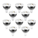10pcs dimmable mr16 4w 4X1W 400LM branco morno branco branco / / cool levou spot light lâmpada 12v