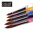 5PCS Nail Art Acrylic Pen Brush NO.4-12