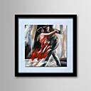 pittura ad olio persone astratte dipinte a mano in lino naturale in legno massello dipinti cornice frameless