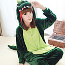 Dinosaurio feroz Dark Green Polar Fleece Unisex Kigurumi Pijamas Pijamas Cartoon Animal Disfraces de Halloween